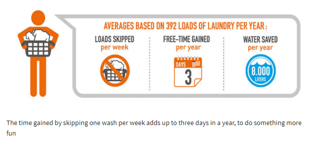 washing outdoor clothing less